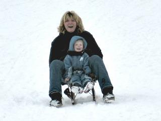 Sleetje rijden in de sneeuw