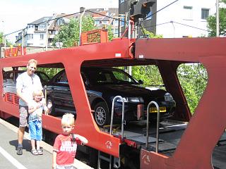 Onze auto op de autoslaaptrein