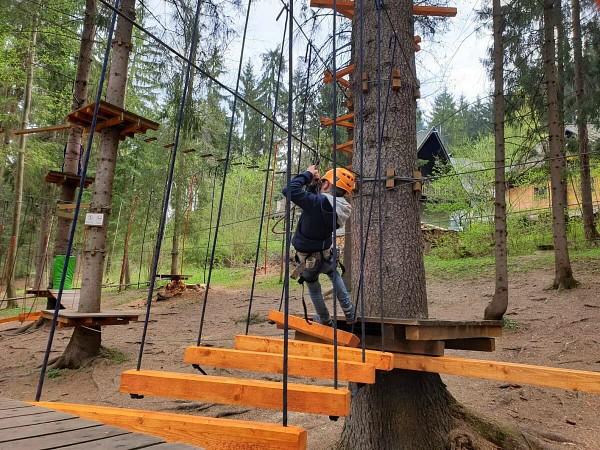 In Slowakije zijn diverse klimparken, altijd leuk voor kinderen