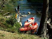 Kanoën op de Moldau rivier