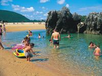 Strand bij Camping Playa Joyel