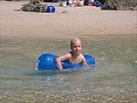 Zwemmen aan de Baskische kust