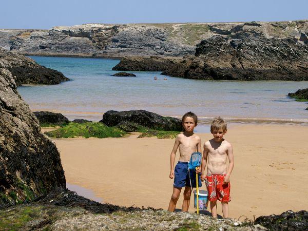 Strand bij Belle Ile en Mer, Bretagne