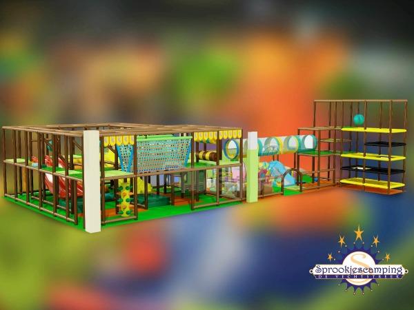 Impressie van het nieuwe indoor speelparadijs de Kasteeltuin