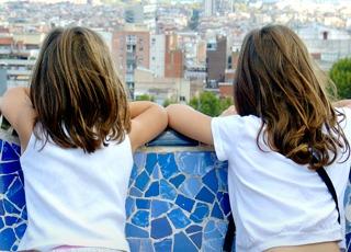 Ook kids houden van de stad Barcelona