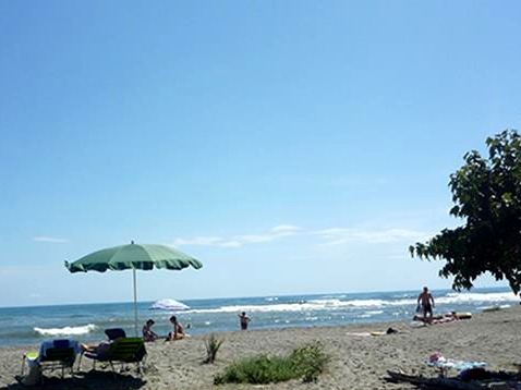 Het strand bij Aléria