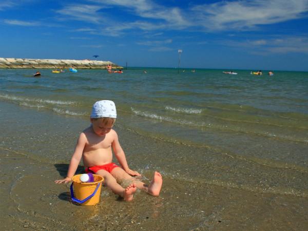 Het strand van Lido Altanea bij Caorle