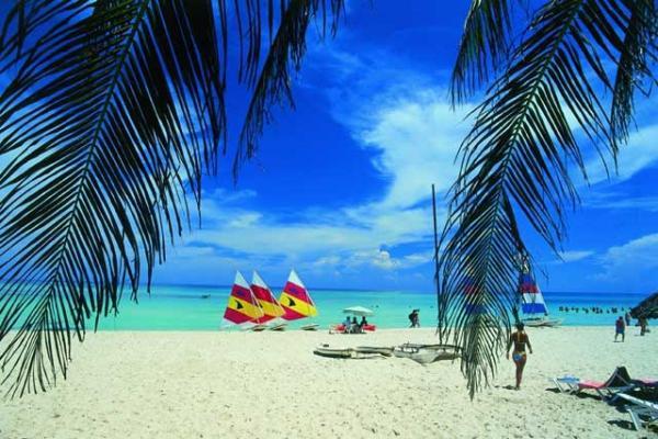 Het strand van Varadero, Cuba