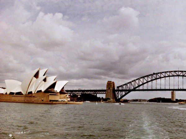 Sydney Opera House en Harbour bridge