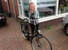 Femke met haar nieuwe fiets