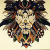 met een stoere leeuw