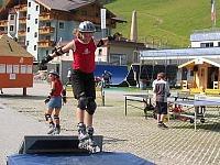 Tieners skeeleren in Zauchensee