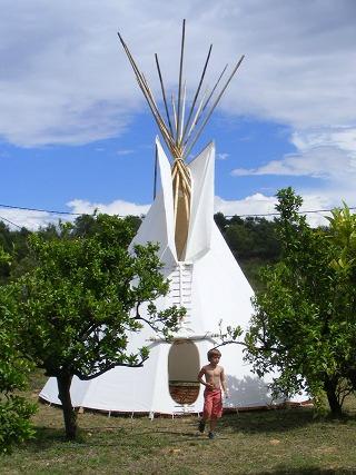 Tipi op Campo Pedralba