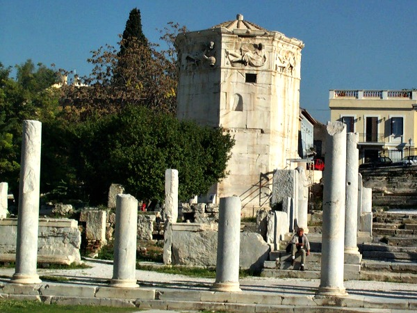 De Toren der Winden in de Agora van Athene