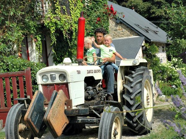 Tractor rijden met Arjen