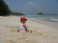Op het strand in Thailand