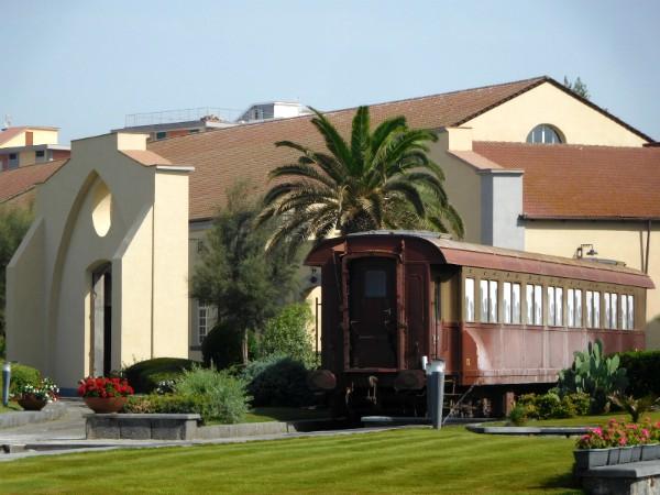 Het trein museum in Napels