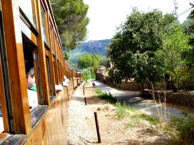 In de trein naar Sóller
