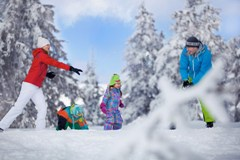 Sneeuwpret in het Ertsgebergte