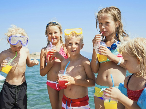TUI gezinsvakanties kinderen op het strand