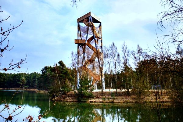 Uitkijktoren in het Bosland bij Lommel