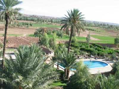 Uitzicht vanuit het hotel in Ouarzazate