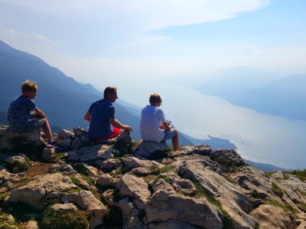 Uitzicht vanaf Monte Baldo over het Gardameer
