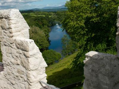 Uitzicht uit het echte kasteel bij Dunloe