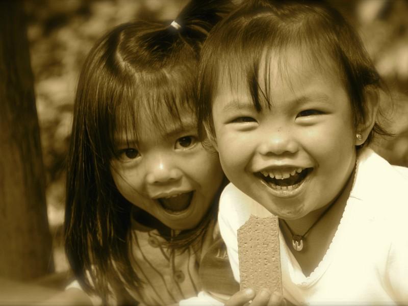 Vrolijke Filipijnse kinderen