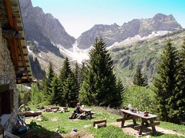 De prachtige Alpen bij Val Cenis