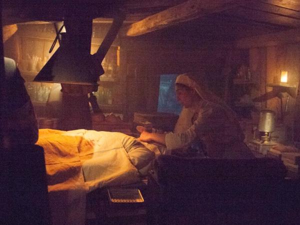 Een verpleegster in de loopgraven van de eerste Wereldoorlog