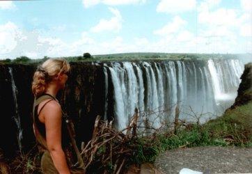 In een ver verleden ben ik al eens bij de Victoria Watervallen geweest, fantastisch...