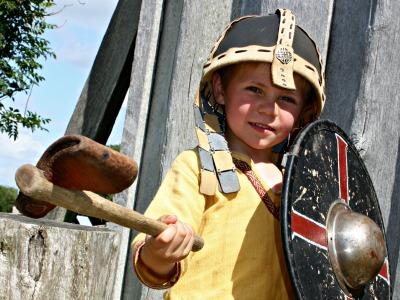 Viking spelen in het Vikingcenter