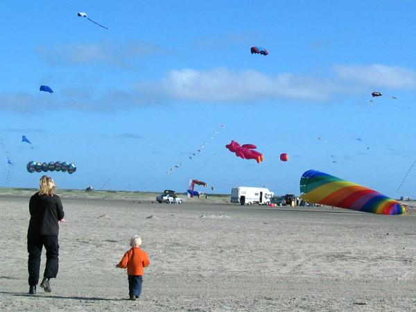 Vliegerfestival op het eiland Rømø