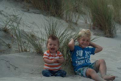 Voor het eerst op het strand van Ameland