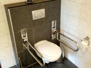 Veel aangepaste voorzieningen zoals dit toilet