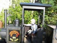 Eén van de treintjes in Legoland Denemarken