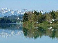 Uitzicht bij Camping Via Claudia in Beieren