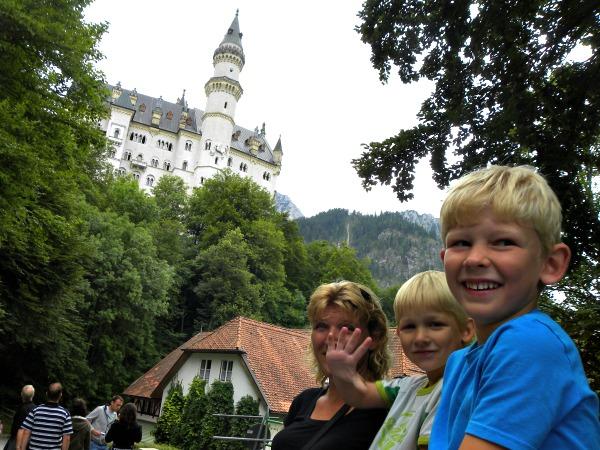 Bij kasteel Neuschwanstein in Beieren
