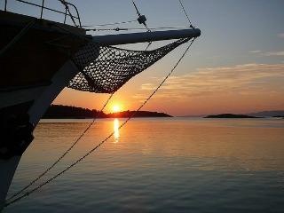 Zonsondergang bij de Dalmatische eilanden