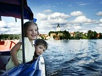 Op de boot in Zweden