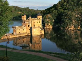 Chateau de la Roche in de rivier Loire