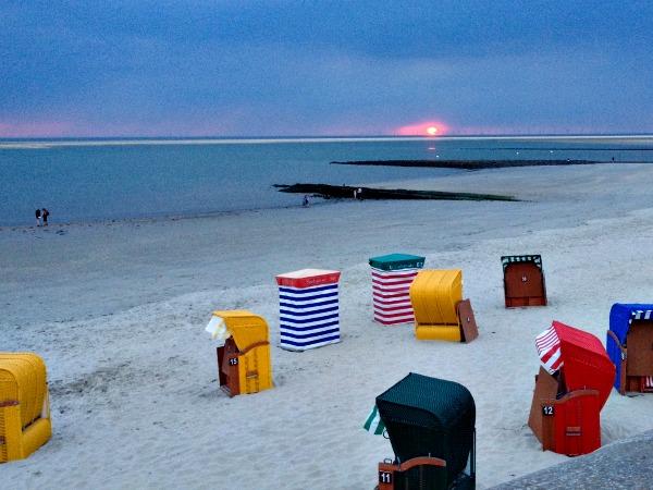 Brede stranden aan de Duitse Noordzeekust