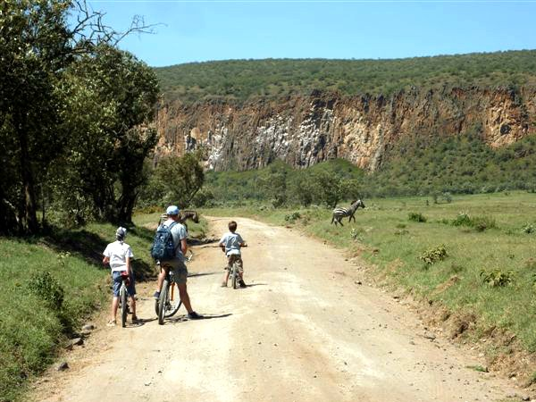 Fiets safari in Kenia