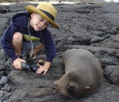 Zo dichtbij kun je dus bij de dieren komen op de Galapagos