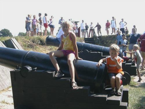 Op de kanonnen van Bourtange in Groningen