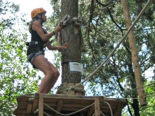 Een uitdagend klimpark is leuk voor tieners