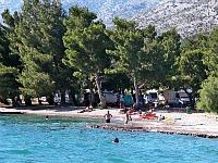 Camping aan het strand in Kroatië