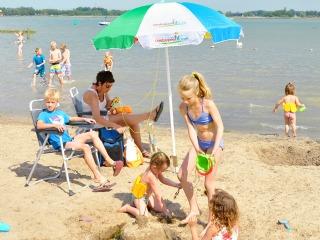 Riviera beach in de Flevopolder