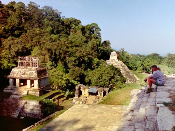 De ruïnes van Palenque in de jungle van Mexico